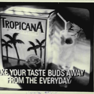 A wine cask of Tropicana from 1987.