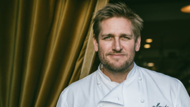 A long way from surfing menus, Australia's Curtis Stone at his Beverly Hills restaurant Maude.