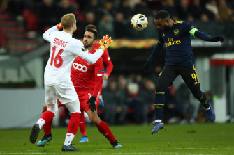 Alexandre Lacazette (right) was one of the stars for Arsenal.
