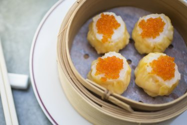 The scallop and prawn sui mai served at Queen Chow in Enmore.