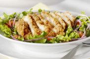Crispy chicken breast salad.