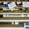 Empty shelves and clogged sewers as shortages hit regional NSW