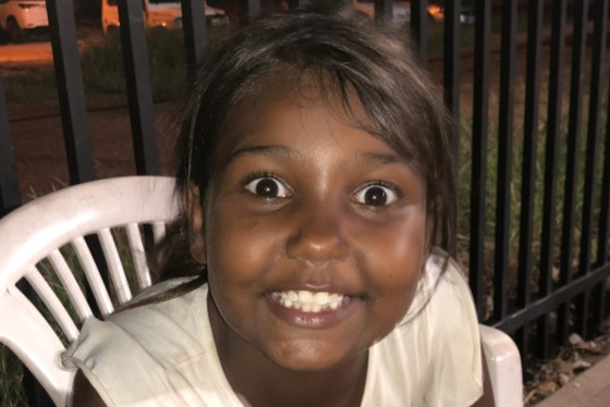 Topsy, one of the children  I met while in Broome, wants to be an artist when she grows up.