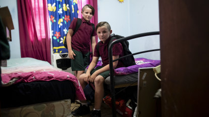 Twins Joel and Jordan among 5000 Sydney kids who need back-to-school support