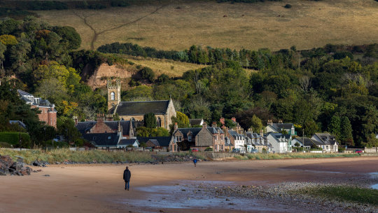 Rosemarkie residents were unhappy when Ian Rankin made the village the scene for one of his crime novels.