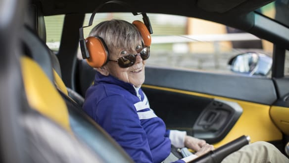 A true joyride: Emily, 79, fulfills her dream to ride in a Lamborghini