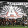 From the Archives, 2009: Bombers come from the clouds in Anzac Day clash
