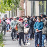 The queues outside Centrelink which sprung up overnight highlighted the surge in demand for welfare.