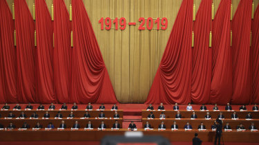 Chinese President Xi Jinping speaks at the Great Hall of People. China's Communist Party now embraces the May 4 movement as a seminal moment in the country's transition to a modern nation.