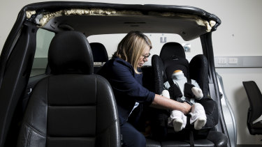 Dr Julie Brown is an expert in injury prevention, who investigates the safety of children's car seats.