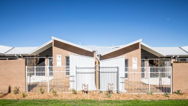 One of the ACT government's new public housing sites opened in Monash on Tuesday.