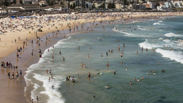 Bondi Beach, just down the road from where the biggest ponzi scheme in NSW history was run.