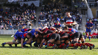 Manly during their Shute Shield clash with Norths earlier this year.