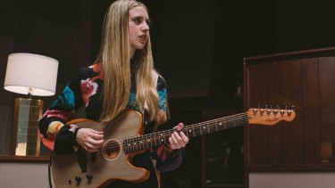 The American Acoustasonic Telecaster with artist Ayla Tesler.