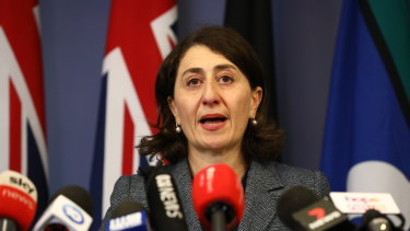 NSW Premier Gladys Berejiklian announces her resignation on Friday.
