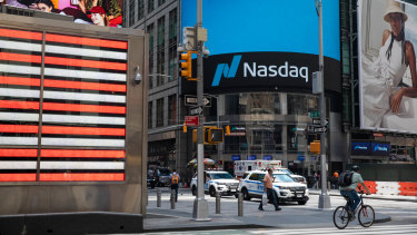 The Nasdaq fell by 6 per cent in two days.