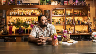 Pasan Wijesena, bartender owner operator of Jacoby's Tiki Bar in Enmore and Earl's Juke Joint in Newtown.