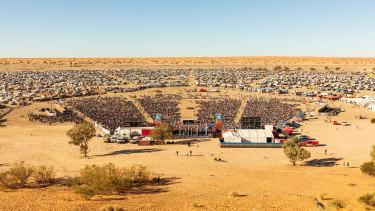 Big Red Bash music festival 2019 in the Simpson Desert.