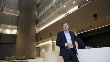 Healthscope CEO Gordon Ballantyne at the new Northern Beaches Hospital site in Frenchs Forest, Sydney.