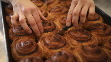 The cinnamon scrolls at Flour Shop are so good you should order more than one.