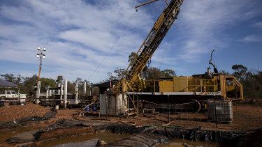 Exploration drilling at the Glencore CSA copper mine outside Cobar.