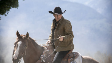 Kevin Costner as rancher John Dutton on the not-so-open range of Yellowstone.