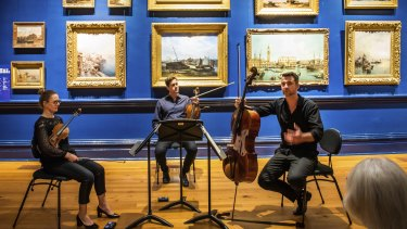 A performance at the Bendigo Chamber Music Festival in 2020.