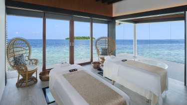 The Westin Maldives Spa Suite.