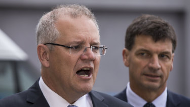 Prime Minister Scott Morrison and Energy Minister Angus Taylor say the QNI upgrade will lower power costs.