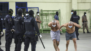 Many gang members are housed at Izalco prison in San Salvador, El Salvador.