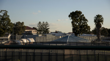 A prison guard has been taken to Westmead hospital after she was stabbed in the back by an inmate.
