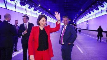 NSW Premier Gladys Berejiklian opens the $3 billion NorthConnex tunnel on Friday.