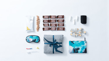 The Qantas business class gift packs. All sold out, I'm afraid.
