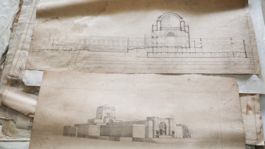 Lost and found: Drawings of the Australian War Memorial by one of its architects, John Crust.