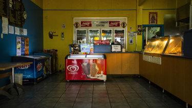 An empty take away shop in Mallacoota.