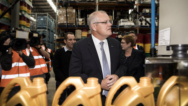 Prime Scott Morrison visits Gulf Western with Foreign Affairs Minister Marise Payne on Friday.