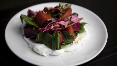 Don Walker's favourite beetroot salad at Bistro Rex.