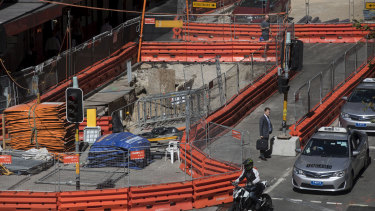 George Street has been a construction zone for years as the light rail line is built.