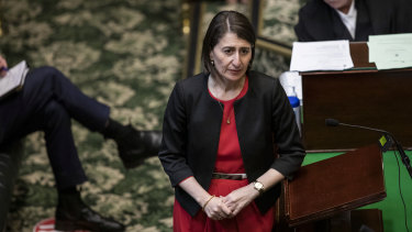NSW Premier Gladys Berejiklian during question time in the Legislative Assembly on Thursday.