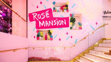 The Rosé Mansion in mid-town Manhattan.