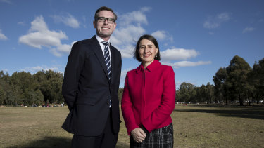 NSW Treasurer Dominic Perrottet with the Premier.