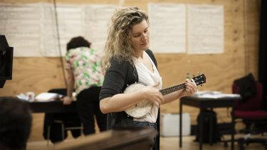 Virginia Gay during rehearsals for Cyrano.
