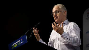 Malcolm Turnbull warned against using carry-over credits to meet Australia's emissions reductions commitments at the National Smart Energy Summit in Sydney on Tuesday.