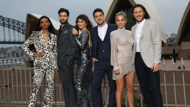 Members of the <i>Tidelands</I> cast at the Sydney premiere.