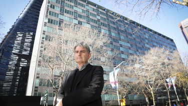 Architect Scott Robertson outside the MLC building in North Sydney.