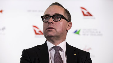"Qantas chief executive Alan Joyce, who labelled Canberra Airport's behaviour ""absolutely appalling""."