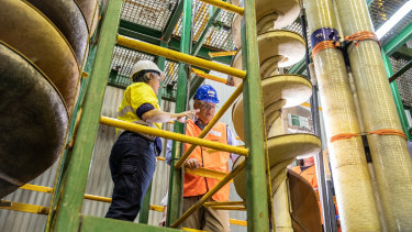 Prime Minister Scott Morrison, pictured at a Gold Coast manufacturing facility, is banking on his budget measures prompting businesses to hire more workers.