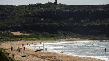 """Locals say people have arrived in """"droves"""" to stay at holiday homes at Palm Beach."""