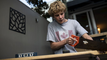 Sydney teenager Banjo Studholme is hoping to get an apprenticeship in carpentry or construction.