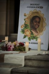 Aishwarya was remembered with a candlelight vigil at Parliament House on Sunday.